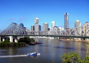 Brisbane River when moving to Australia